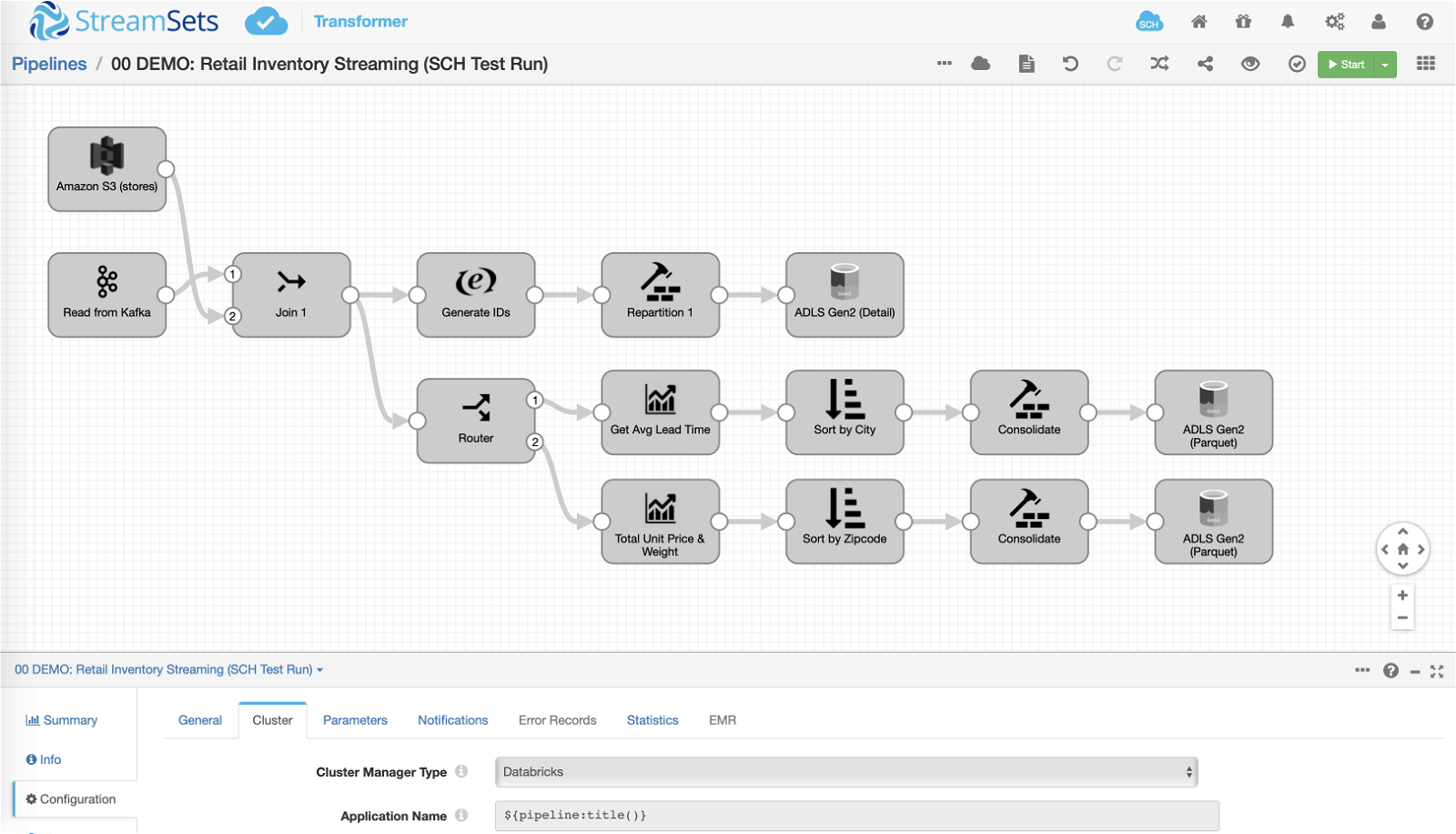 Transformer data pipeline with Spark
