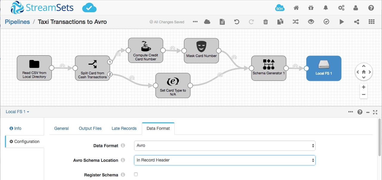 Set Schema Location in data pipeline